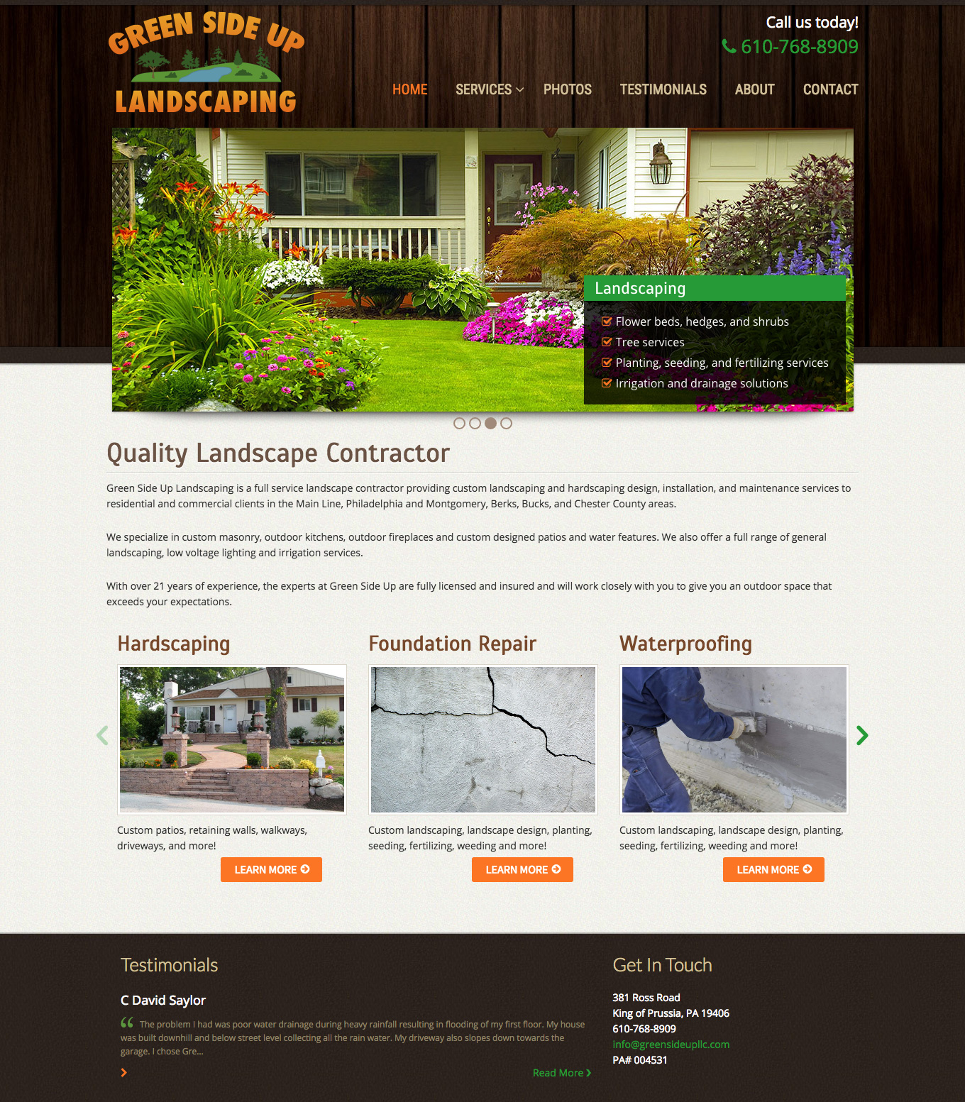 - Green Side Up Landscaping